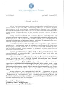 RASPUNSUL MINISTERULUI AFACERILOR EXTERNE CATRE BISERICA PENTICOSTALA - CAZUL BODNARIU - PARTEA I